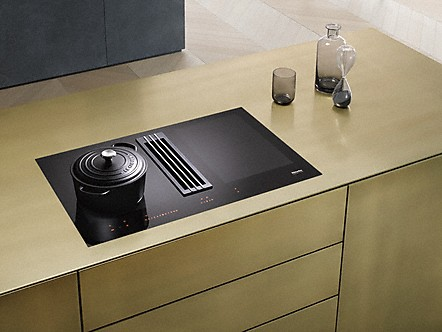 miele taques induction avec hotte aspirante. Black Bedroom Furniture Sets. Home Design Ideas